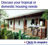 tropical, domestic, prefabricated houses